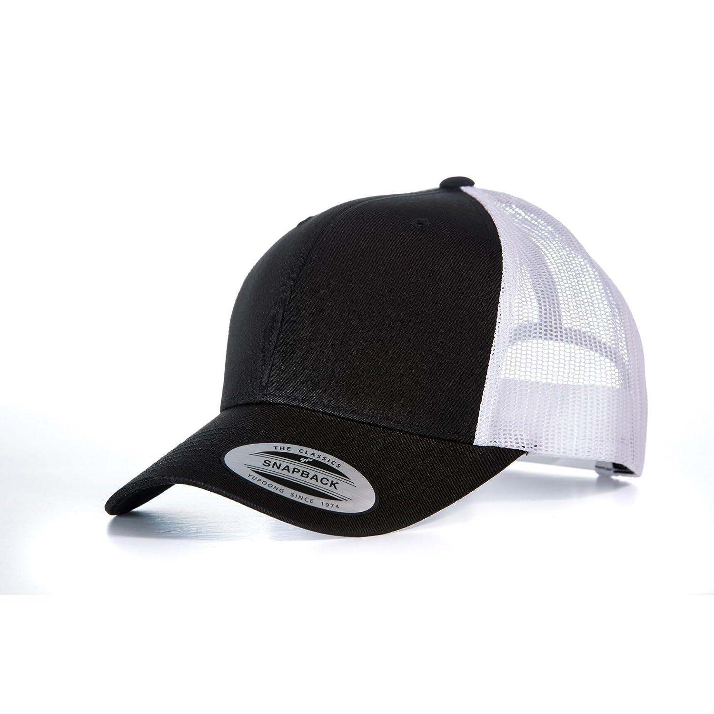 5bdf0d2c Yupoong Flexfit Retro Snapback Trucker Cap (One Size) (Black/Light Grey):  Amazon.co.uk: Clothing