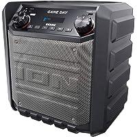 ION Audio Game Day - Altavoz externo recargable de 50 W, con conectividad Bluetooth, puerto de carga USB, entrada auxiliar y micrófono