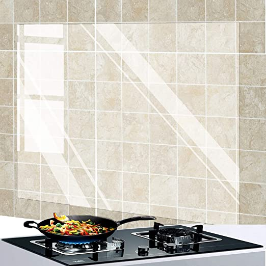 5M Transparent Kitchen Oil-proof Wall Sticker Heat-resistant self adhesive