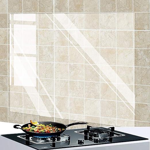 Kitchen Waterproof Wallpaper Oil Stain Heat Resistance Tile Wall Stickers Decal