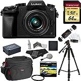 Panasonic DMC-G7KK Digital Single Lens Mirrorless Camera Bundle with Lens, Tripod and carry Case (10 Items)