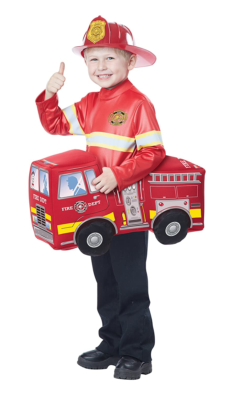 Amazon.com California Costumes Fire Truck Hero Costume Red Toddler (3-6) Toys u0026 Games  sc 1 st  Amazon.com & Amazon.com: California Costumes Fire Truck Hero Costume Red ...