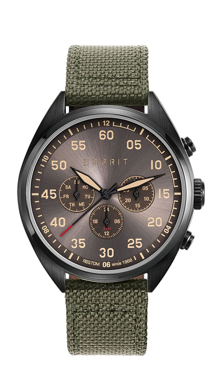 Esprit Herren-Armbanduhr TP10879 Military Green Analog Quarz Nylon ES108791003