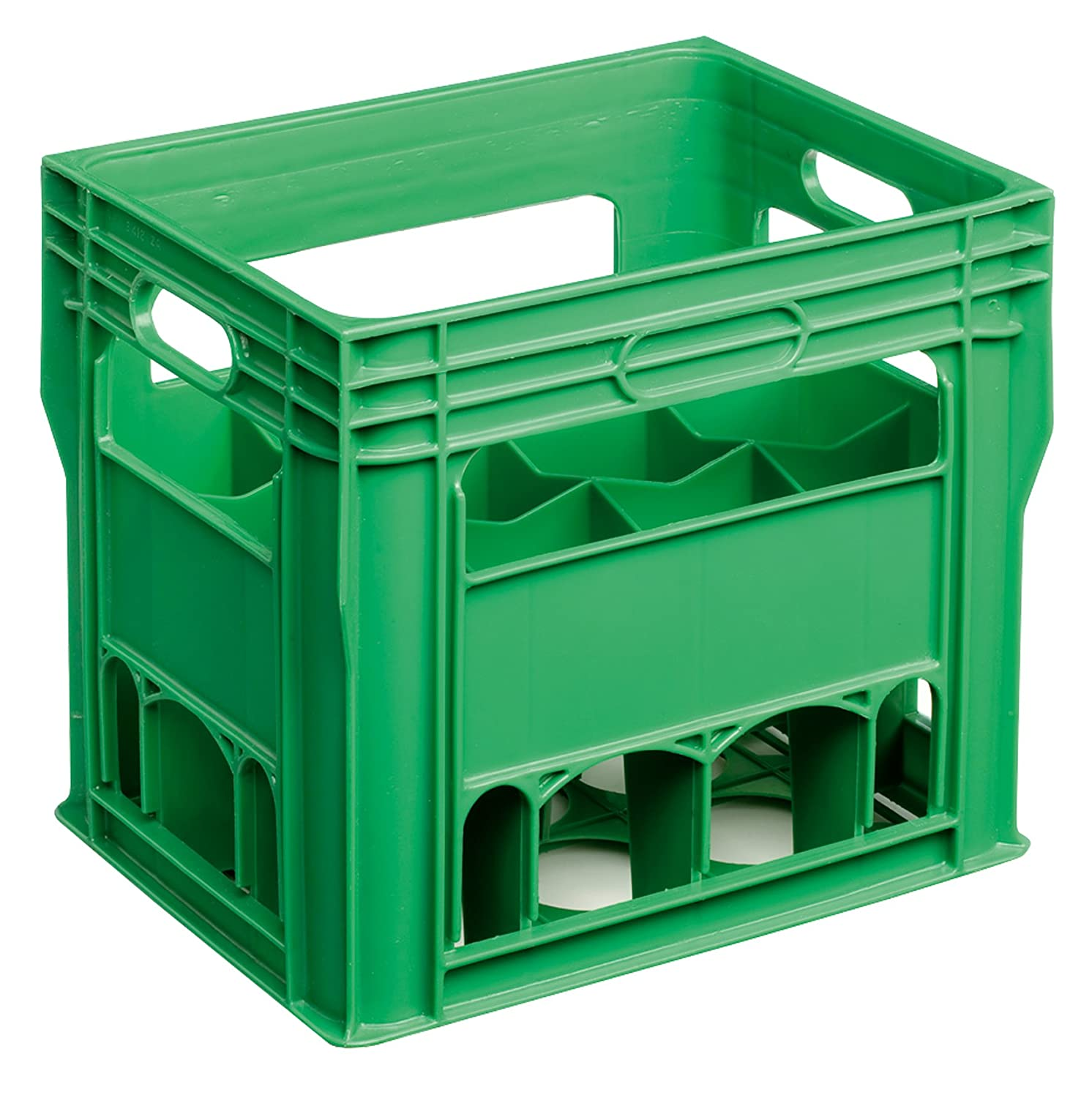 12 Compartment 750ml Wine Bottle Plastic Stacking Bottle Crate – Perfect for Wine, Glasses, Beer, Recycling Box, Bottle Bank, Bottle Storage, Homebrew, Catering, Milk (1)