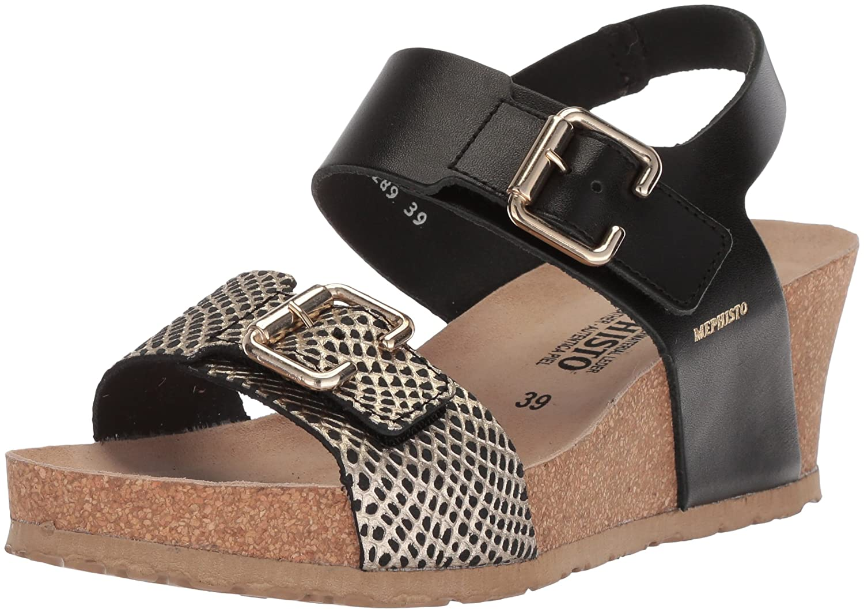 Mephisto Schuhe Frau Lissandra Black Sandalen: