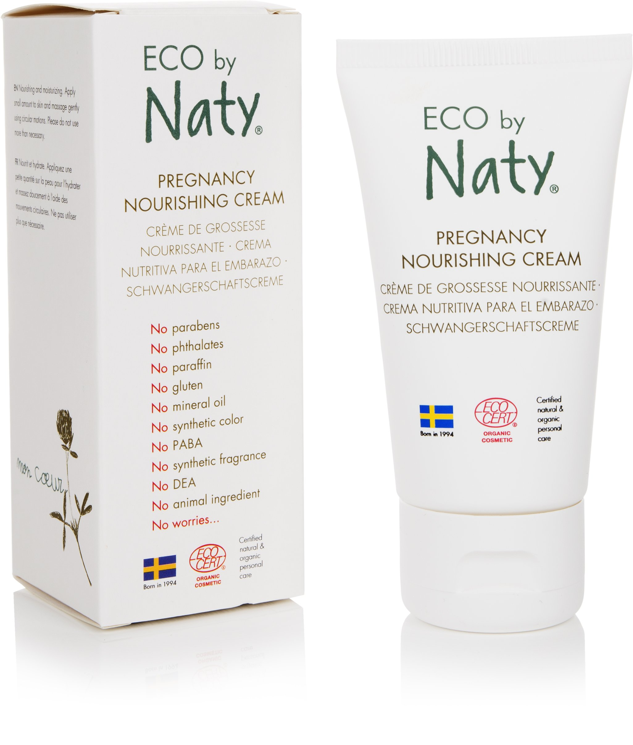 Eco by Naty Ecocert Certified Organic Pregnancy Nourishing Cream for Dry and Stretching Skin, 1.7 Fl. Ounce (Pack of 1)