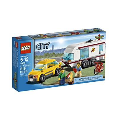 LEGO City Town Car and Caravan 4435: Toys & Games
