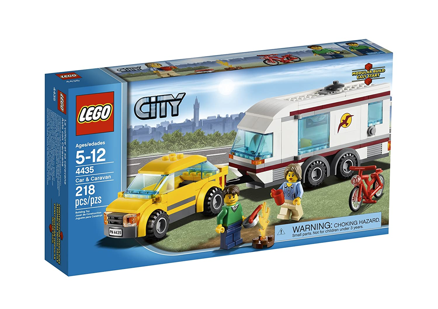 Amazon Lego City Town Car And Caravan 4435 Toys Games