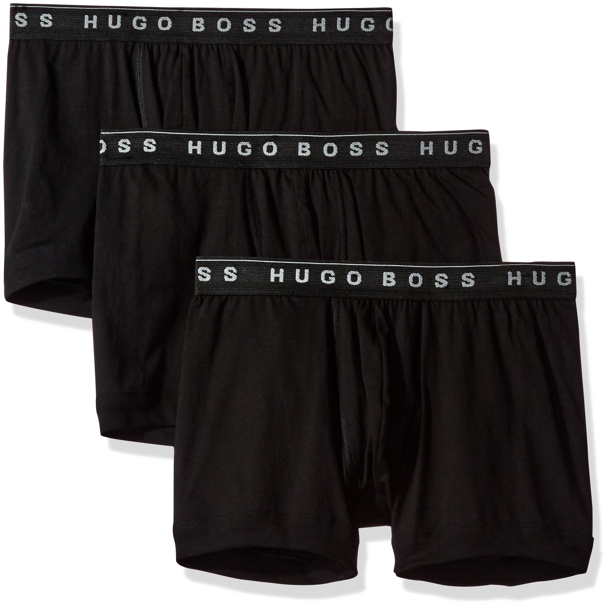 Hugo Boss BOSS Men's 3-Pack Cotton Boxer Brief, New Black, Large