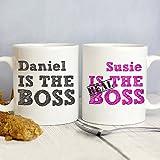Personalised THE REAL BOSS Mug Set
