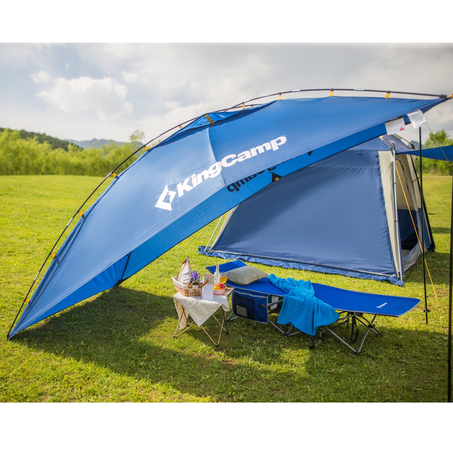Amazon.com  KingC& Awning Sun Shelter Auto Canopy C&er Trailer Tent Roof Top for Beach SUV MPV Hatchback Minivan Sedan C&ing Outdoor ...  sc 1 st  Amazon.com & Amazon.com : KingCamp Awning Sun Shelter Auto Canopy Camper ...