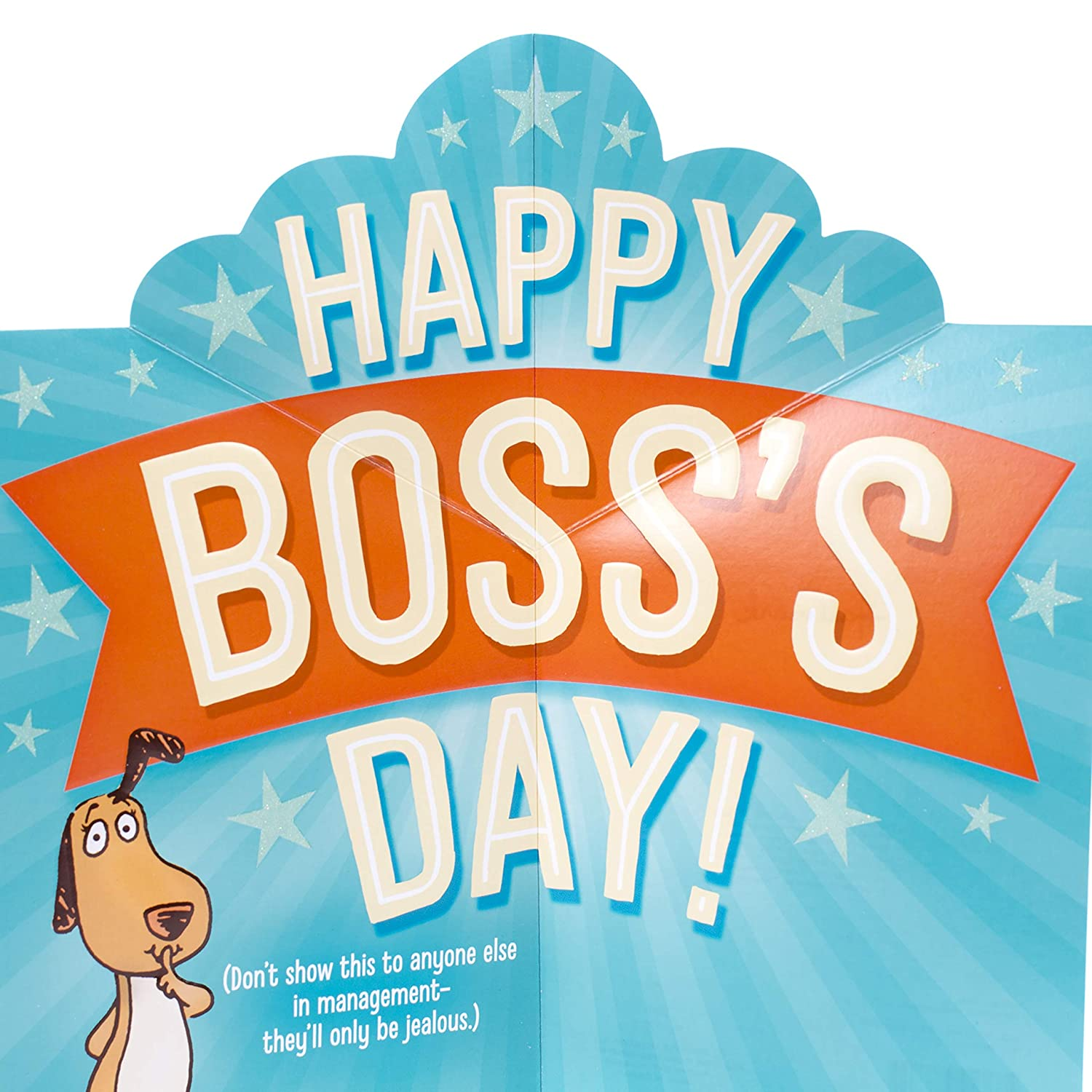 Amazon Hallmark Funny Bosss Day Card With Pop Up Awesome