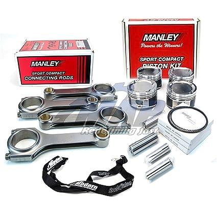 Manley Pistons 87.6mm Bore 9.5:1 & Turbo Tuff I-Beam Rods for