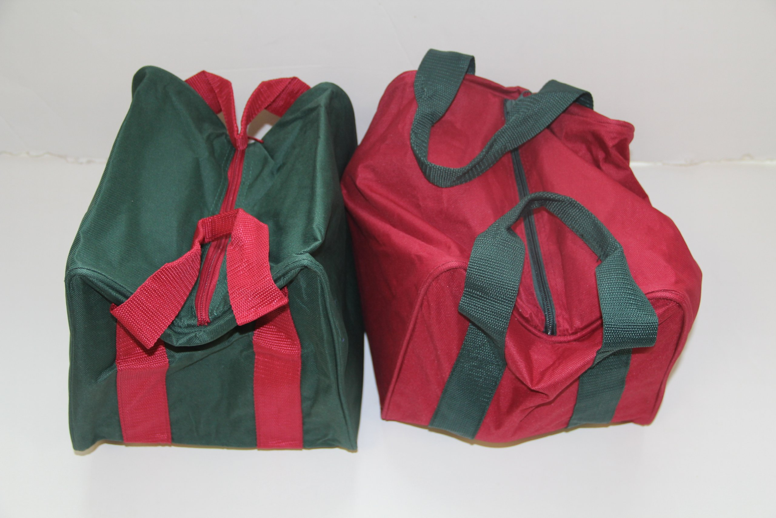 Heavy Duty 8 Ball Bocce Bag by EPCO - red and green bags -2 pack by BuyBocceBalls
