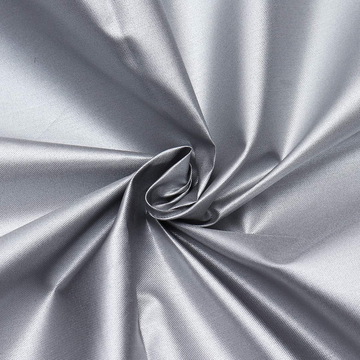 wasserdicht silberfarben 218/×218/×30cm quadratisch wetterfest Abdeckung f/ür Whirlpools