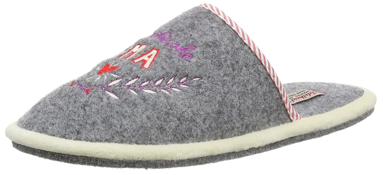Adelheid Damen Glückspilz Filzpantoffel Pantoffeln, Grau (Mausgrau 940), 38/39 EU