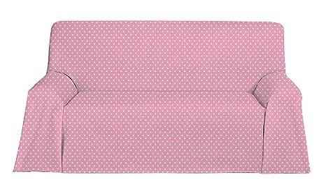 Martina Home Candy Star Foulard Multiusos, Tela, Rosa, 130 x 180 cm