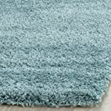 Safavieh Milan Shag Collection SG180-6060 Aqua Blue