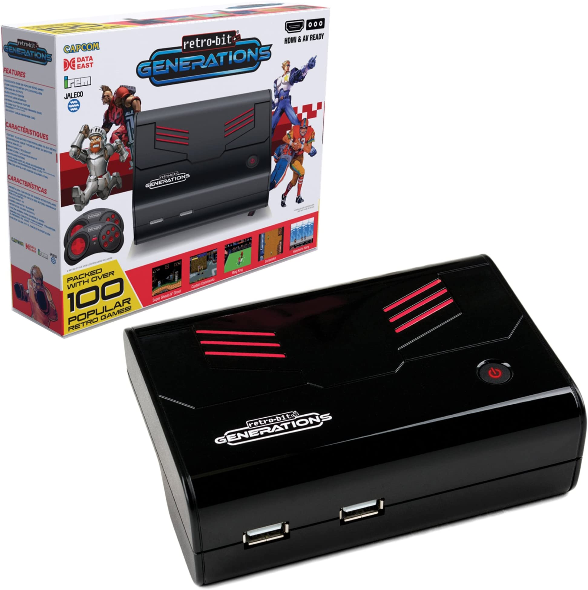 00f8ec05d03d3 Amazon.com  Retro-Bit Generations - Plug and Play Game Console Red ...