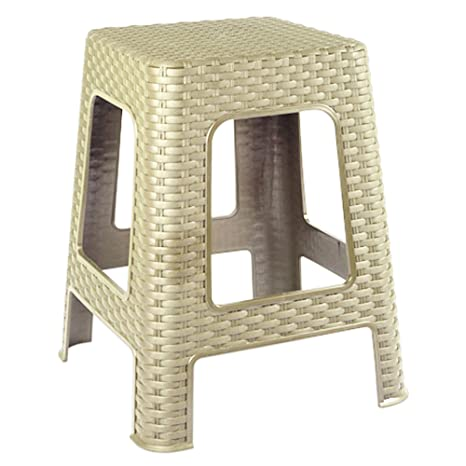 Magnificent Evelyn Living Beige Rattan Step Stool Large Indoor Outdoor Ncnpc Chair Design For Home Ncnpcorg