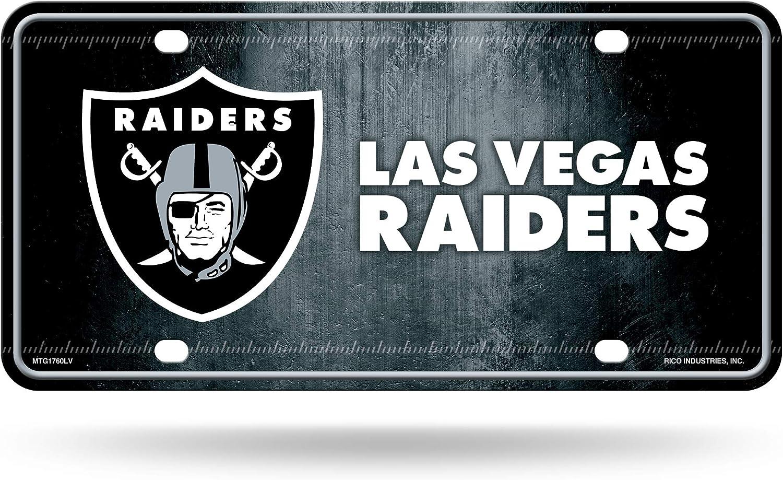 Las Vegas Raiders City Name Premium Metal Tag Aluminum Novelty License Plate Oakland Football Rico Industries Inc