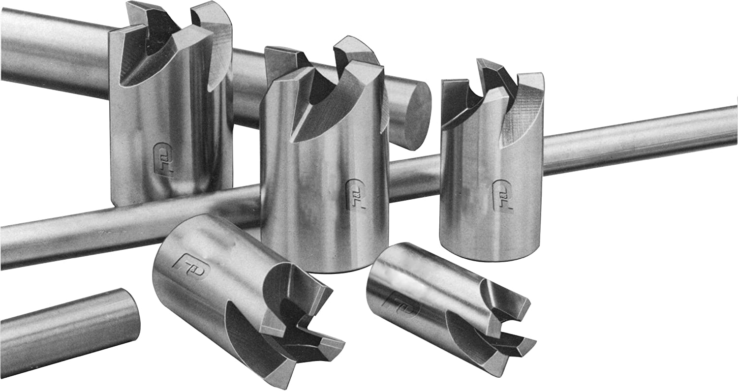 1 Shank Diameter F/&D Tool Company 17014-HM1019 Hollow Mills 4 Number of Teeth 1.75 Overall Length 17//32 Hole Diameter
