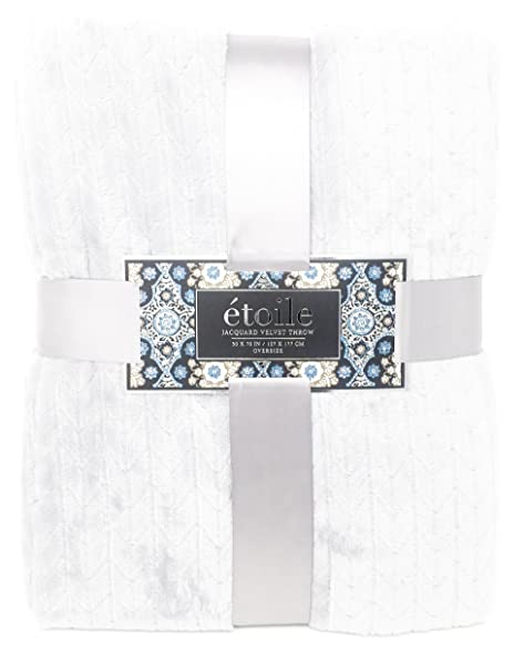 Amazon ReLIVE Etoile Herringbone Jacquard Weave Reversible 40 Adorable Etoile Throw Blanket