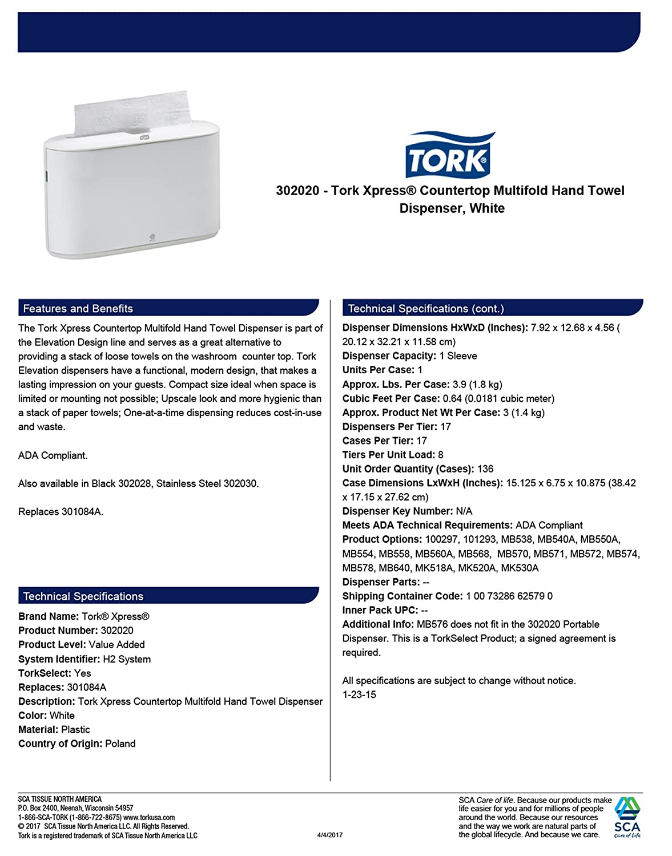Tork Xpress Countertop Multifold Hand Towel Dispenser | Tork US