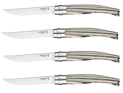 Amazon.com: Opinel cuchillo de carne Set, 4 piezas, el ...