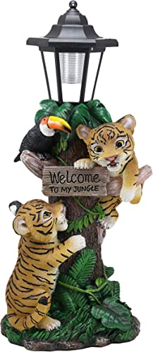 Ebros Colorful Jungle Frolick Climbing Tiger Cubs Chasing Toucan Bird