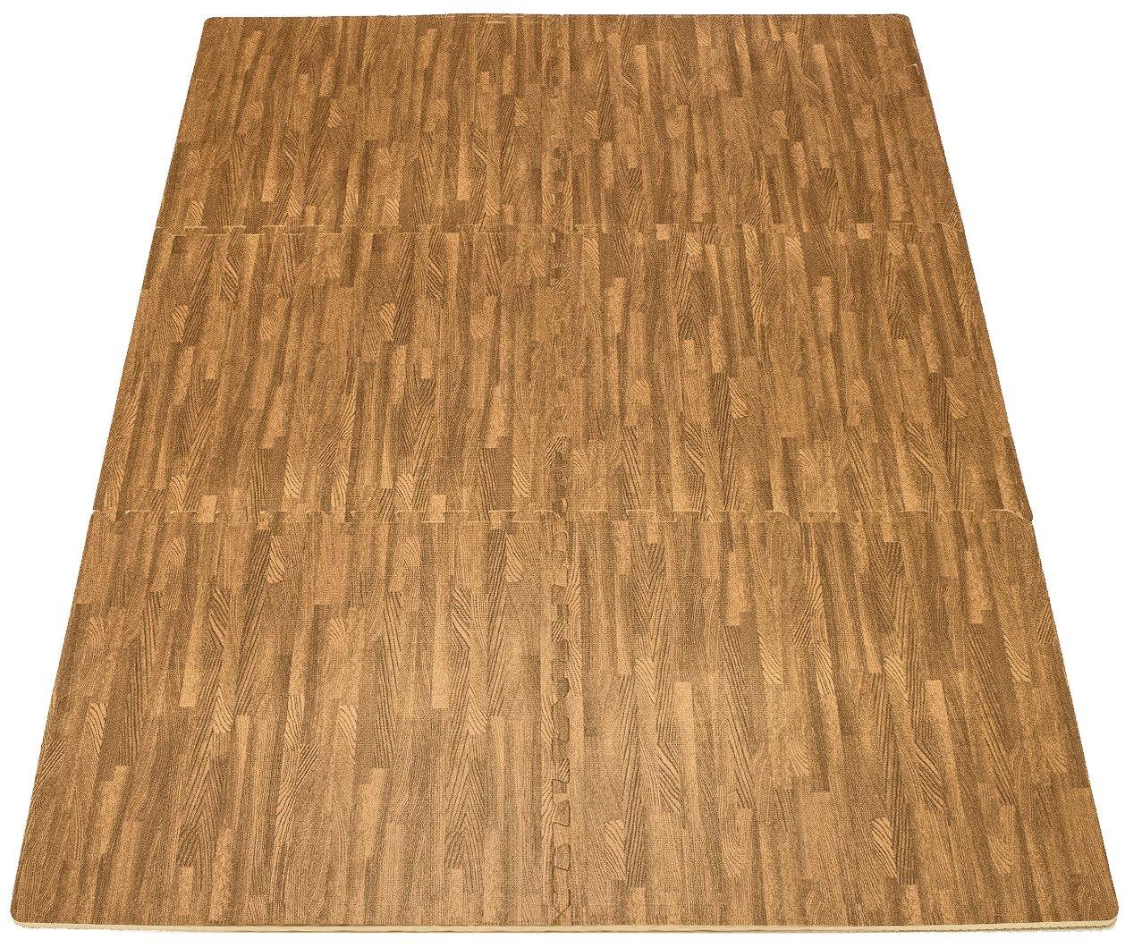Sorbus Interlocking Floor Mat Print, Wood Grain - Light (6-Piece) by Sorbus (Image #6)