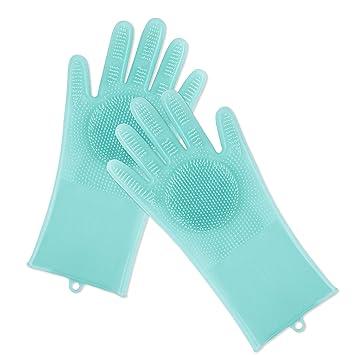 Amazon.com: Guantes de silicona para lavado mágico, cepillo ...