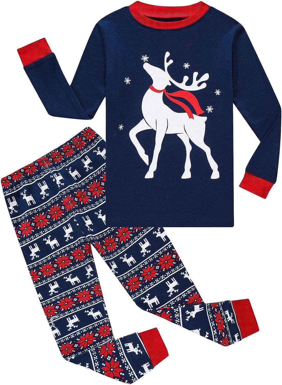 Matching Family Pajamas Christmas Girls and Boys Sleepwears Cotton Kids Clothes Set