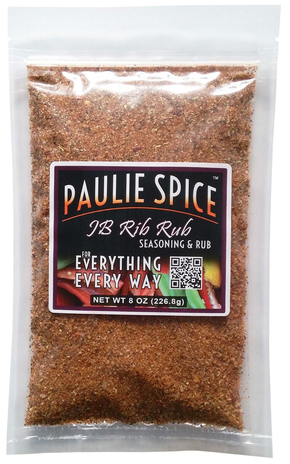 Paulie Spice : JB Rib Rub Sweet & Smoky Barbecue Seasoning : 8 oz by Paulie Spice
