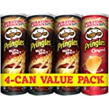 Pringles Hot and Spicy Flavored Chips 3 Cans Plus Pingles Original Flavored Chips Can,  165 grams each (Pack of 4 cans)