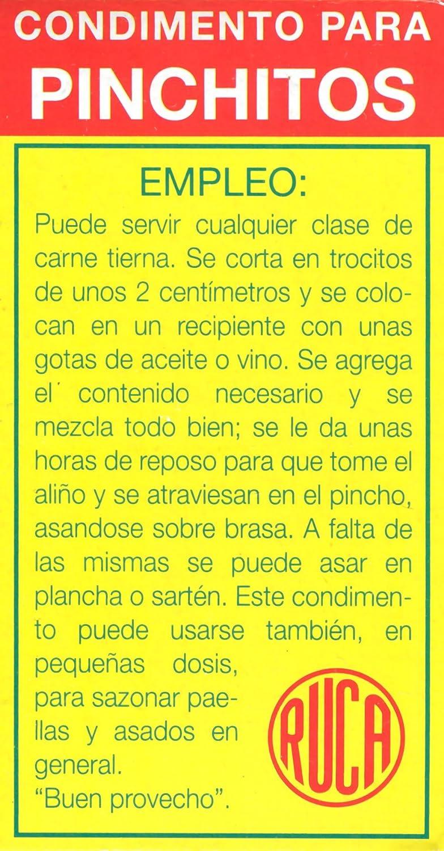 Ruca pinchitos kabab Especias de Granada (2.2 Oz/62 Gr Box ...