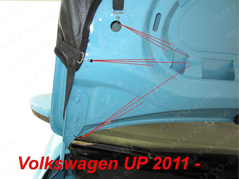 Auto-Bra AB3-00428 Carbon Optik kompatibel mit VW Volkswagen UP Bj seit 2011 Haubenbra Steinschlagschutz Tuning