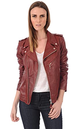 Fab Leather Womens Lambskin Motorcycle Leather Jacket