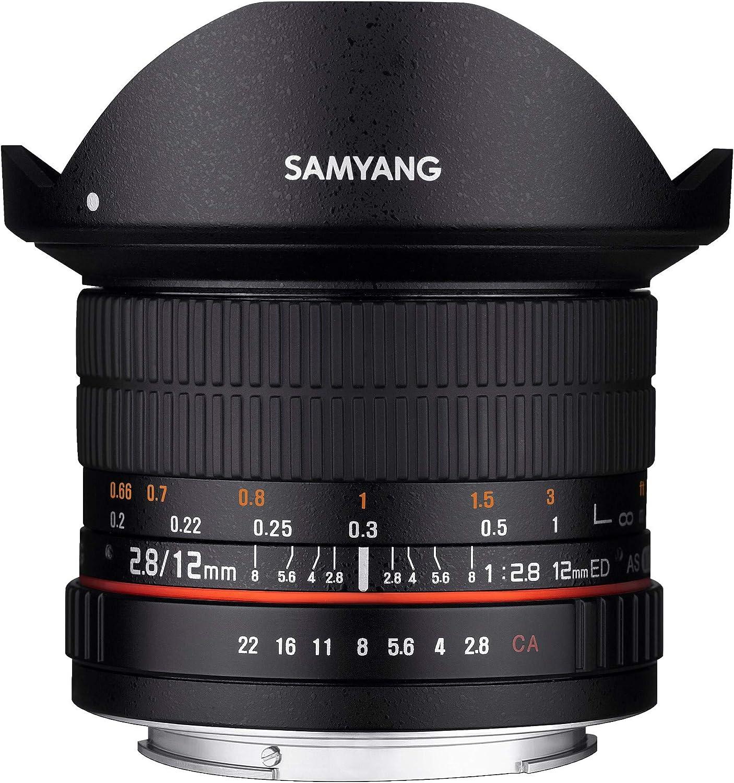 Samyang 8mm f//2.8 UMC Fisheye Objectif 12 mm Argent