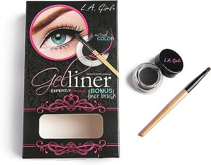3 Pack) LA GIRL Gel Liner Kit - Very Black: Amazon.es: Belleza