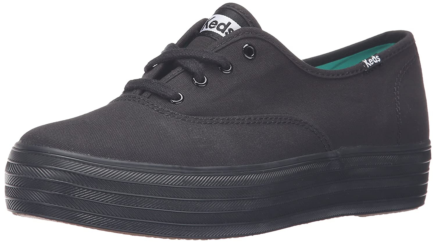 Keds Women's Triple Core Fashion Sneaker B00DNNP1VO 6.5 B(M) US|Black/Black