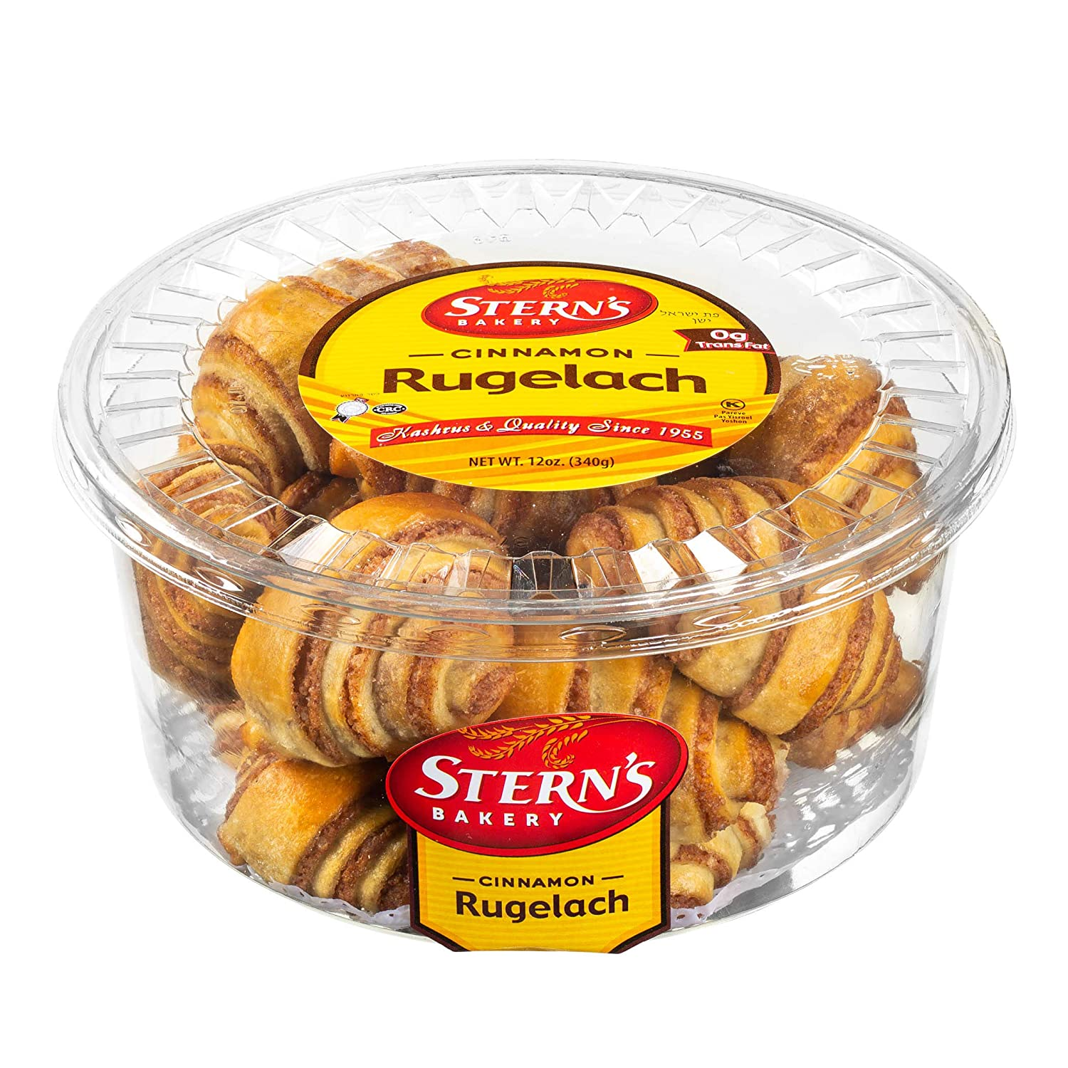 Cinnamon Rolls | Cinnamon Buns | Breakfast Pastry | Rugelach Pastries Cinnamon Croissants | Preservative Free & No Coloring Added | Dairy, Nut & Soy Free | 12 oz Stern's Bakery