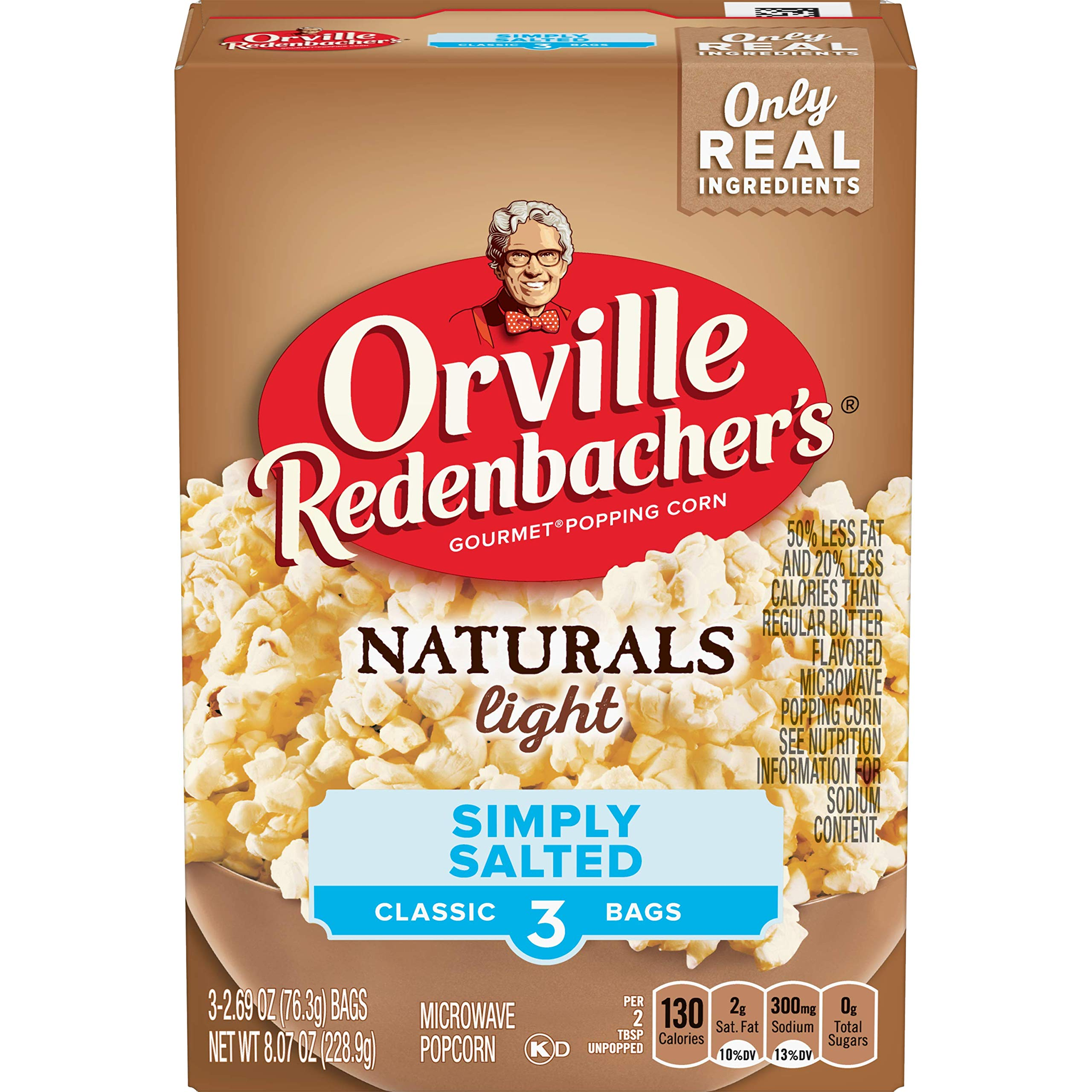 Orville Redenbacher's Naturals Light Simply Salted Popcorn, Classic Bag, 3-Count by Orville Redenbacher's
