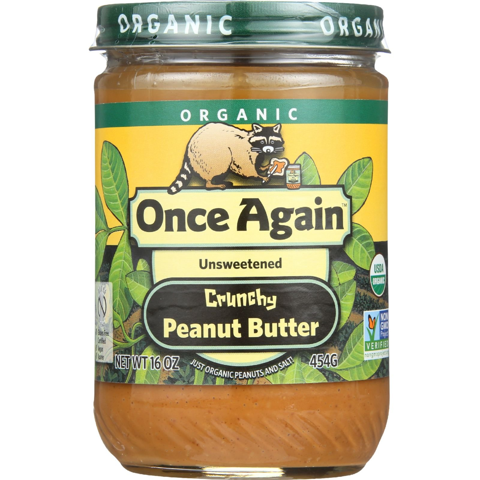 Once Again Peanut Butter Crunchy Organic, 16 oz