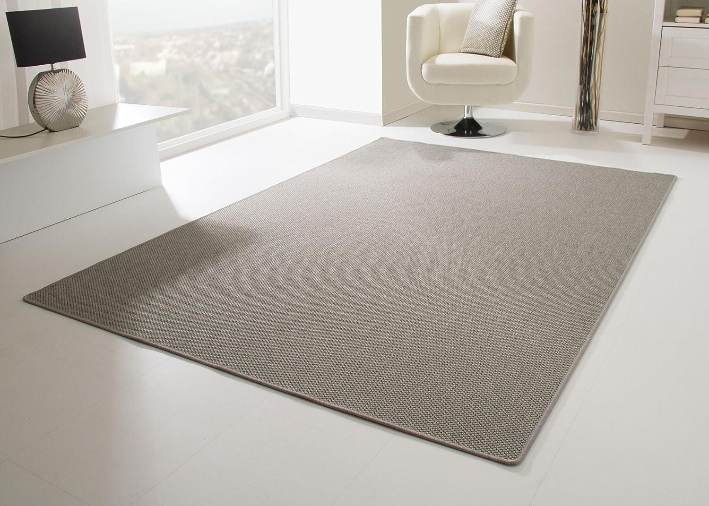 Designer Teppich Modern Viborg Küchenteppich in Silber grau, Größe  200x300 cm
