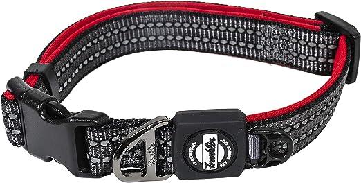 Halti Premium Collar de Perro Ajustable De Neopreno Reflectante Rojo Negro
