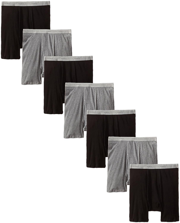 Hanes Men's 7-Pack Boxer Brief, Black/Grey, Medium Hanes Men' s Underwear 2349B7 shoes home decor