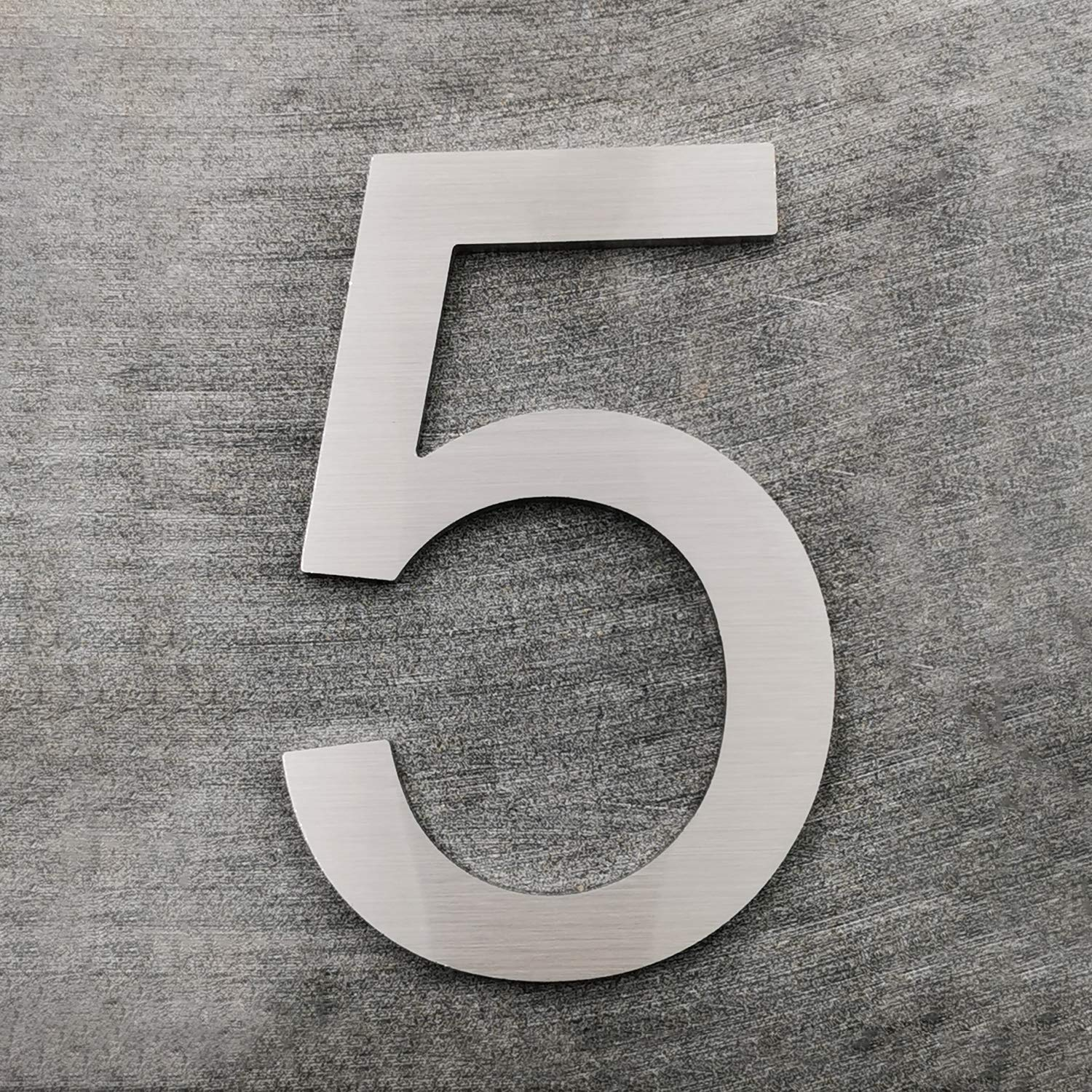 Number 0 Cobata Modern House Numbers-6 Inch Solid Stainless Steel Street Address Number Silver Elegant Floating Appearance//Easy to Install