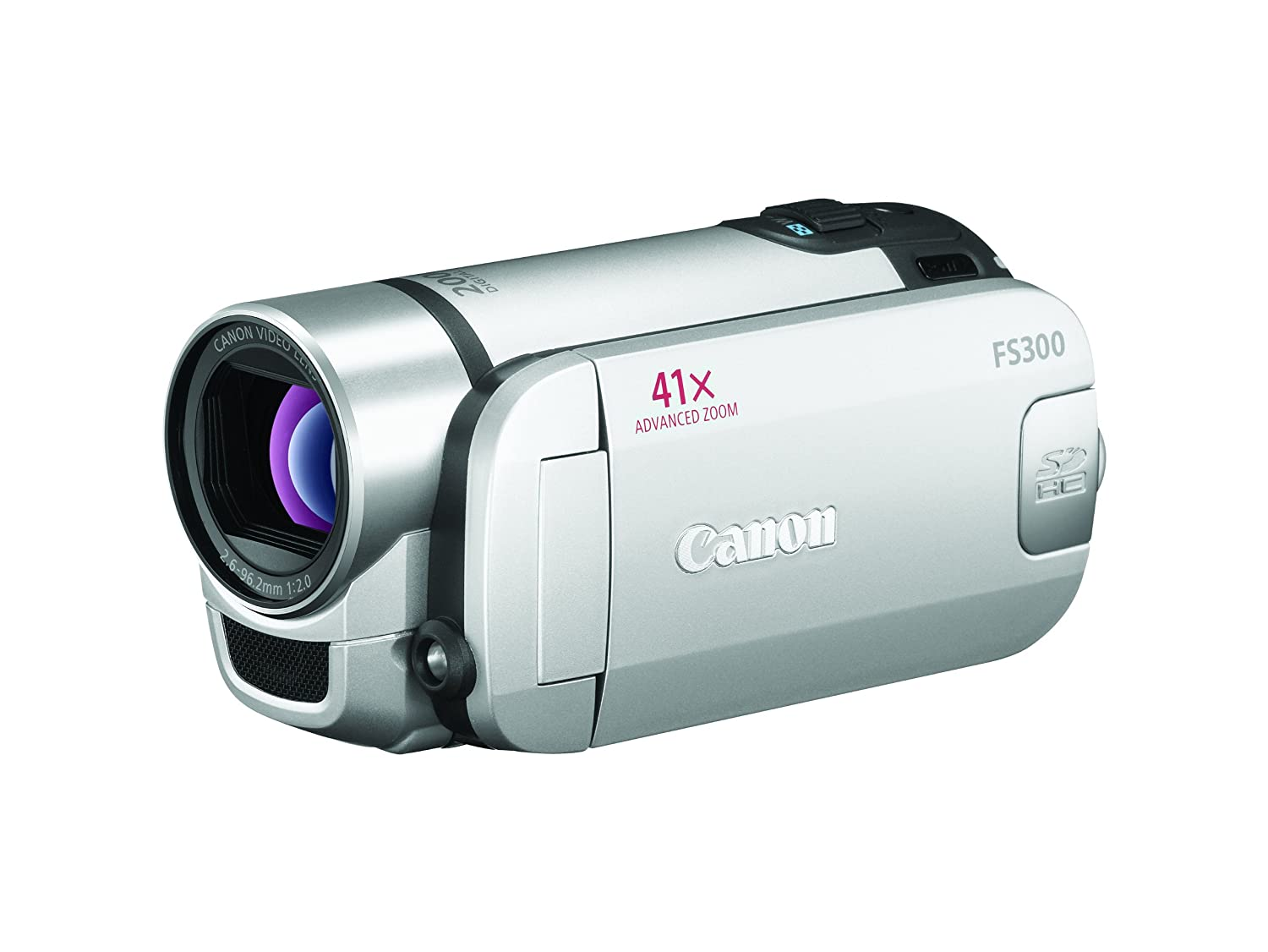 Amazon.com : Canon FS300 Flash Memory Camcorder w/41x Advanced Zoom  (Silver) (Discontinued by Manufacturer) : Camera & Photo