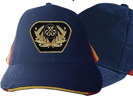 dicep Gorra Azul con Bandera de España y Escudo de la Marina ...